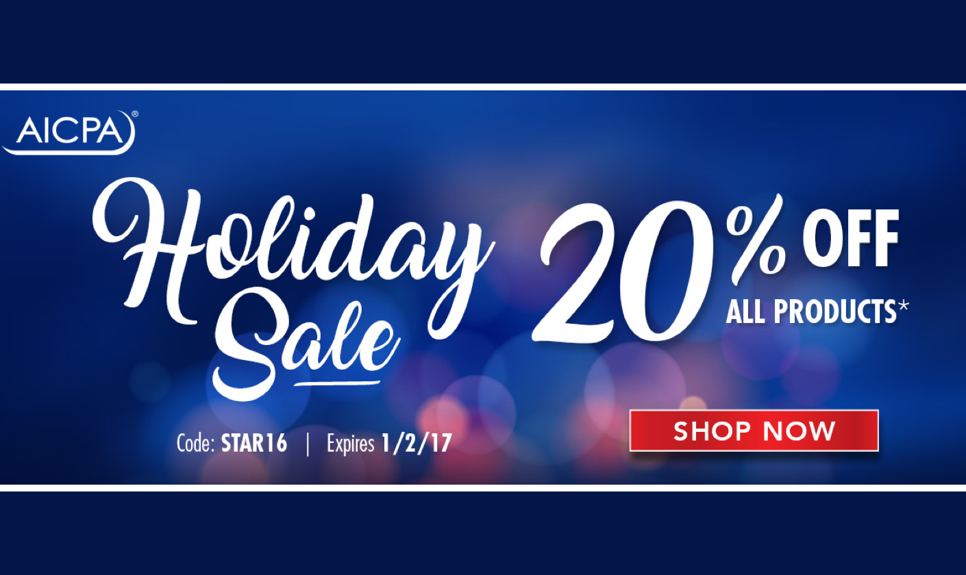 AICPA Holiday Sale