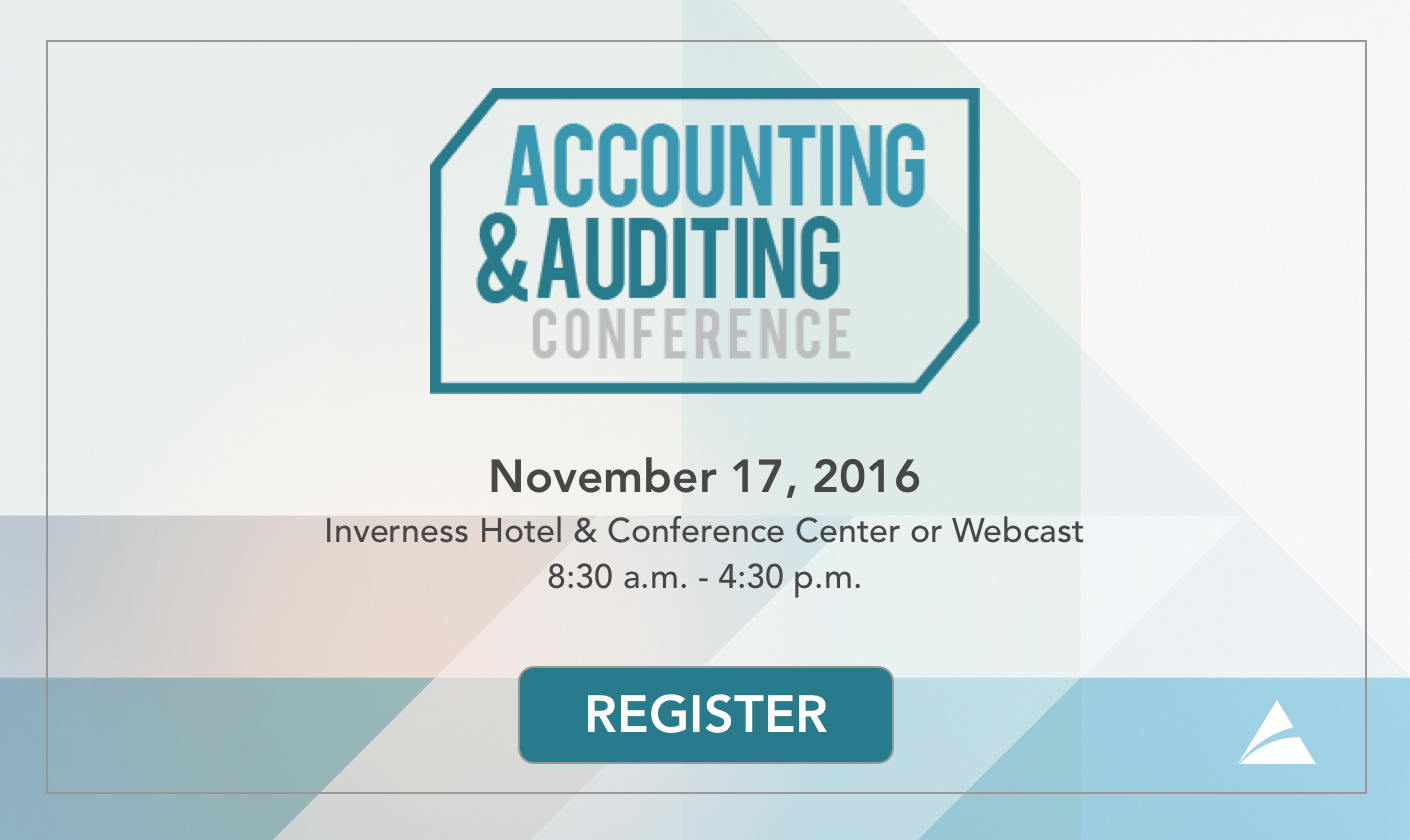 2016 Accounting and Auditing Conference