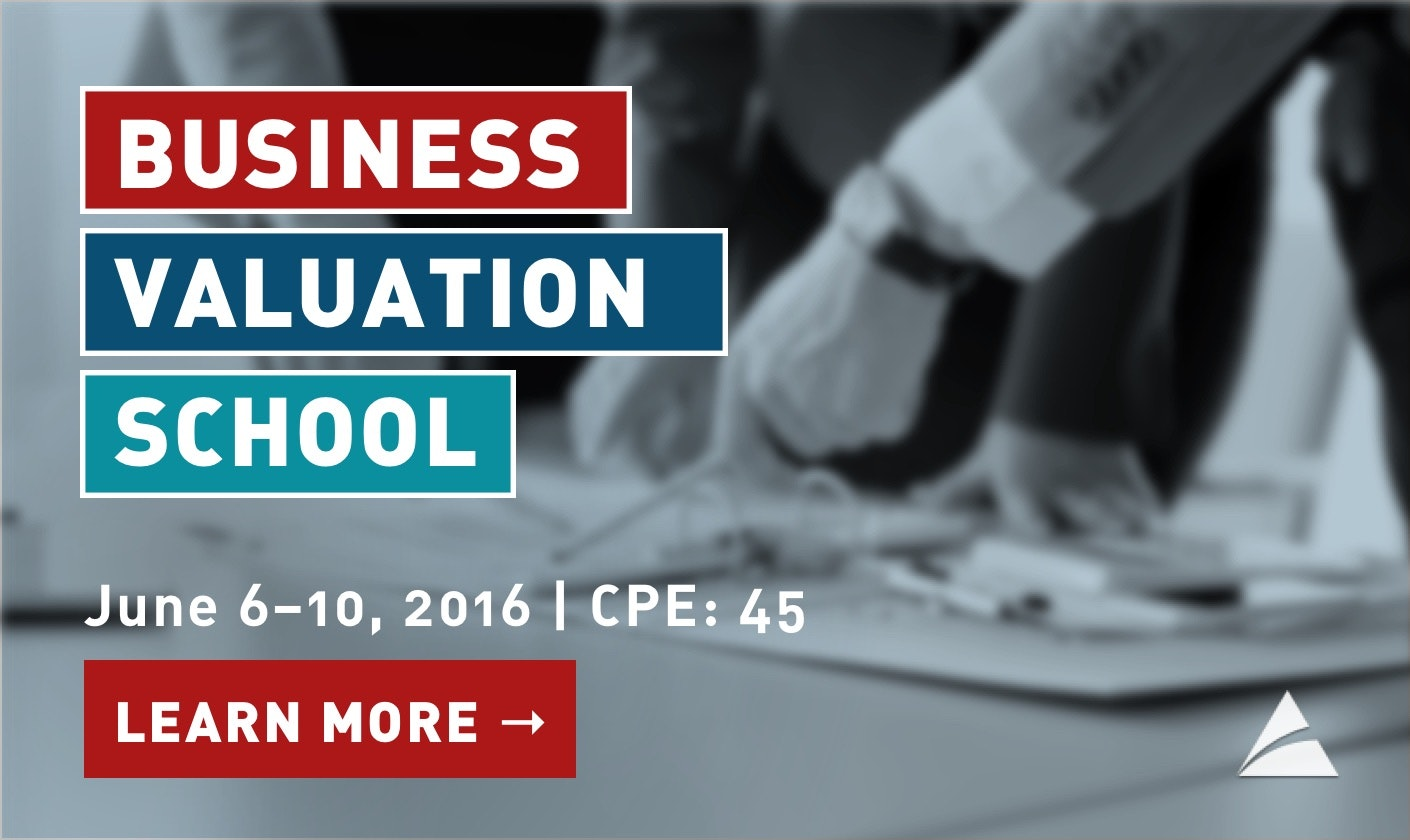Event Registration - AICPA Business Valuation School