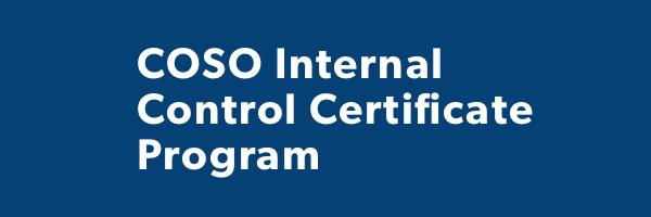 2017 COSO Internal Control Certificate Program