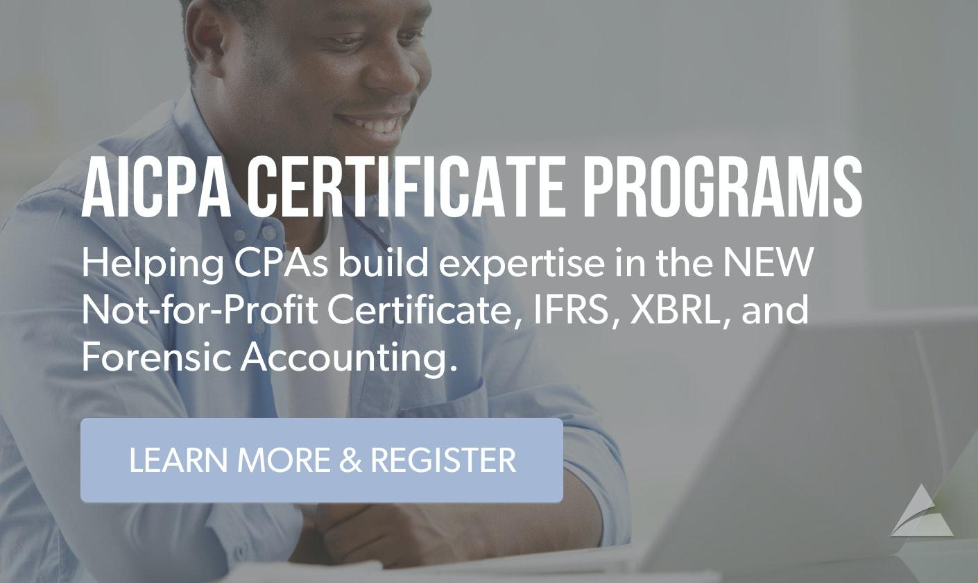 AICPA Cert Programs