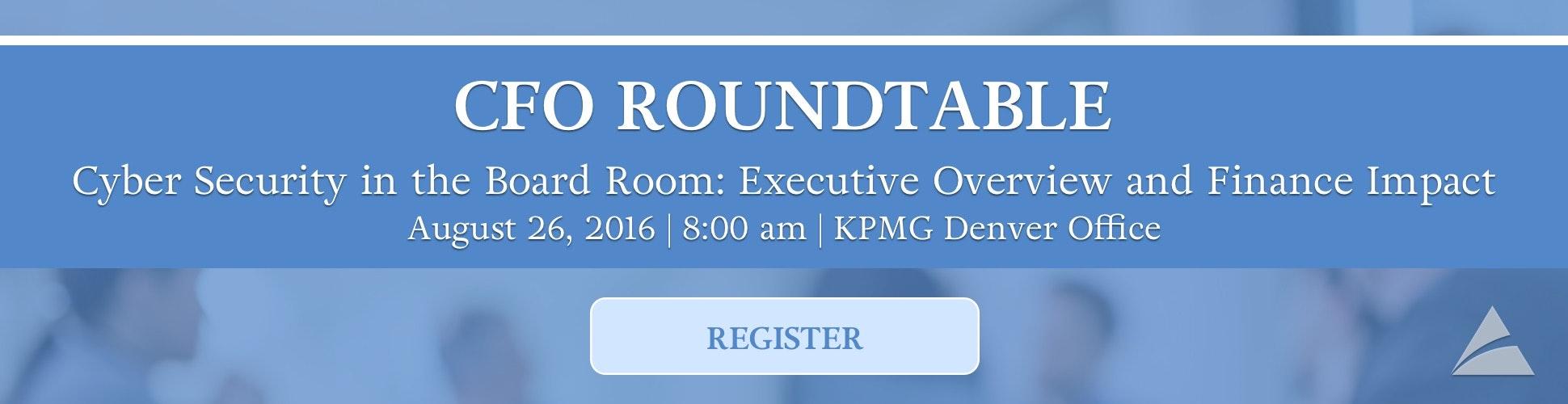 COCPA CFO Roundtable