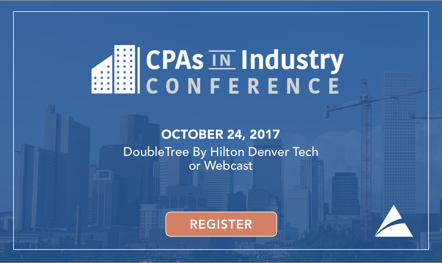 2017 CPAs in Industry Conference