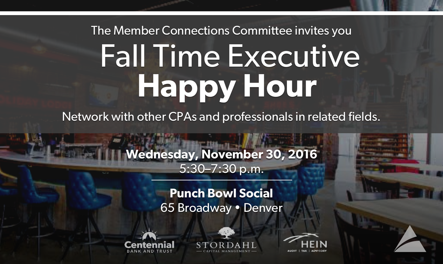 MCC Executive Happy Hour - Fall Punch Bowl