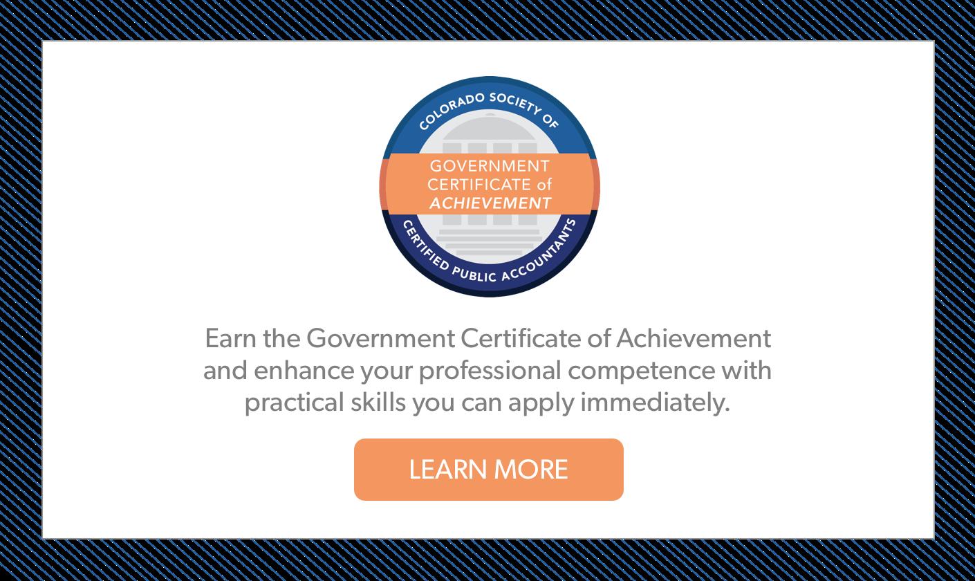 Government Certificate of Achievement Program