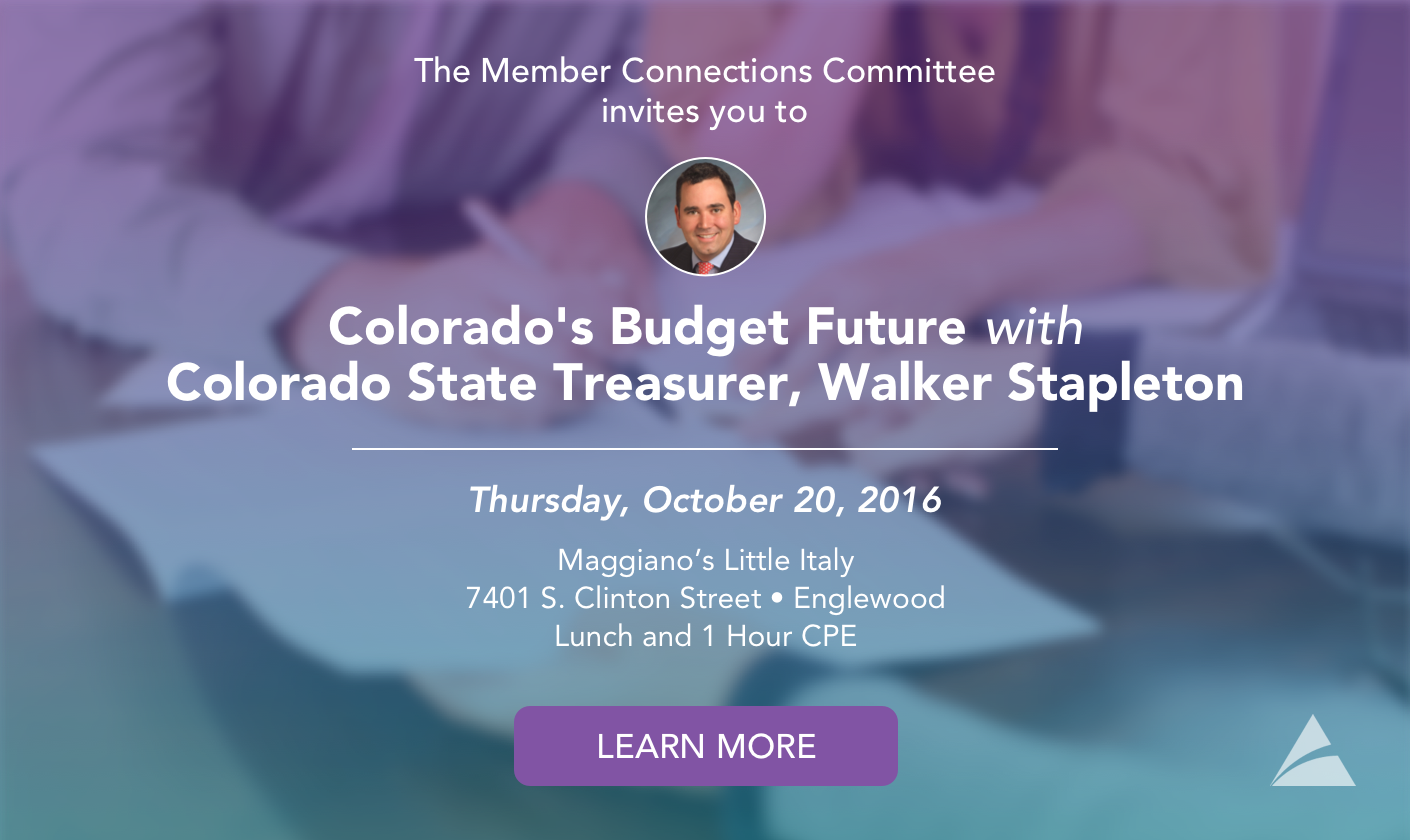 MCC Lunch - Colorado's Budget Future With The State Treasurer