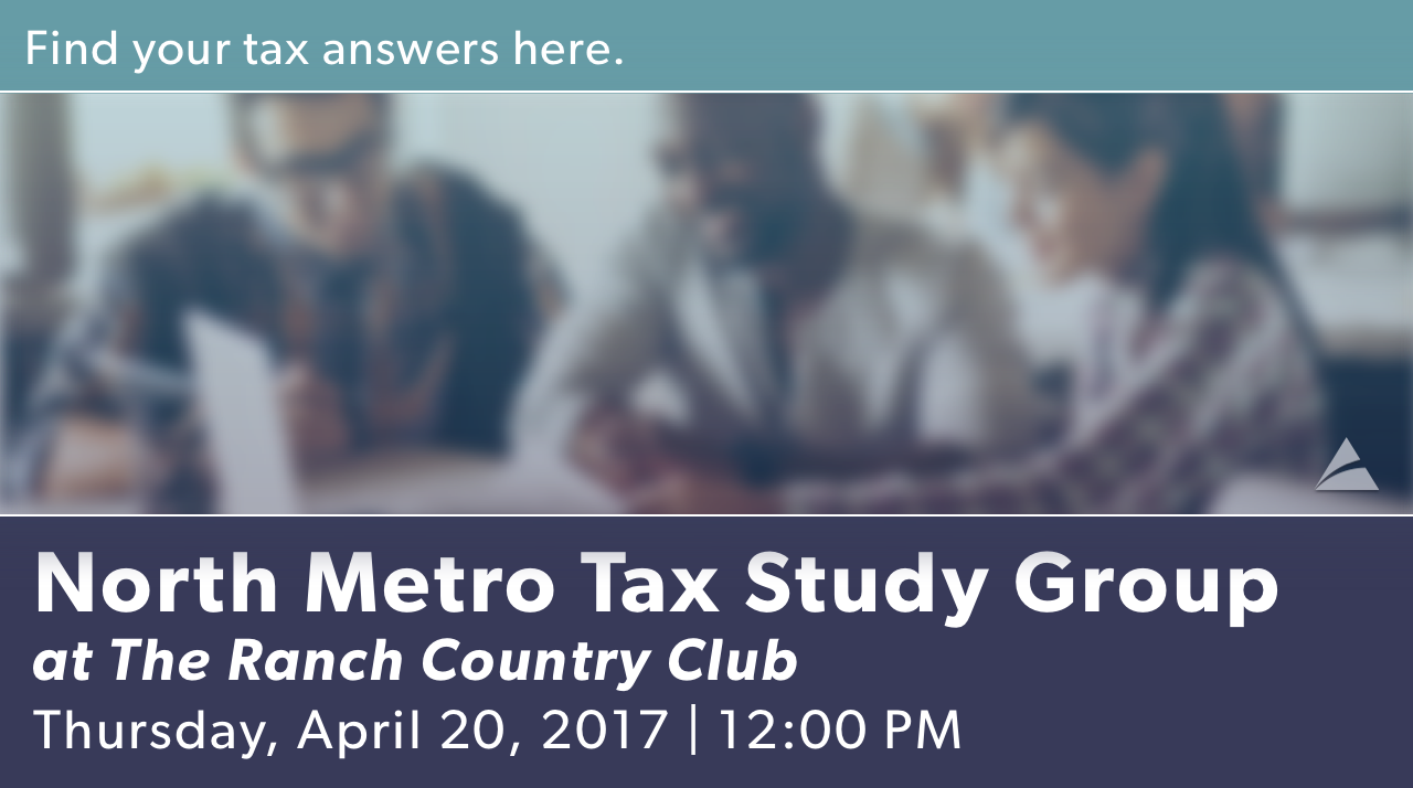 North Metro Tax Study Group - April 2017