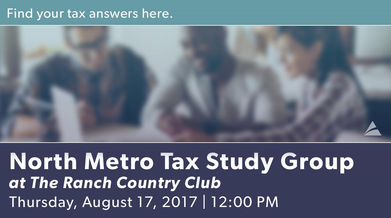 North Metro Tax Study - August 2017