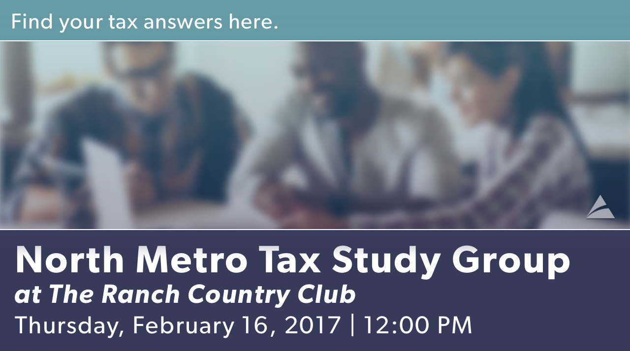 North Metro Tax Study Group - February 2017