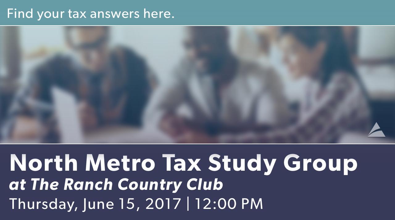 June North Metro Tax Study Group