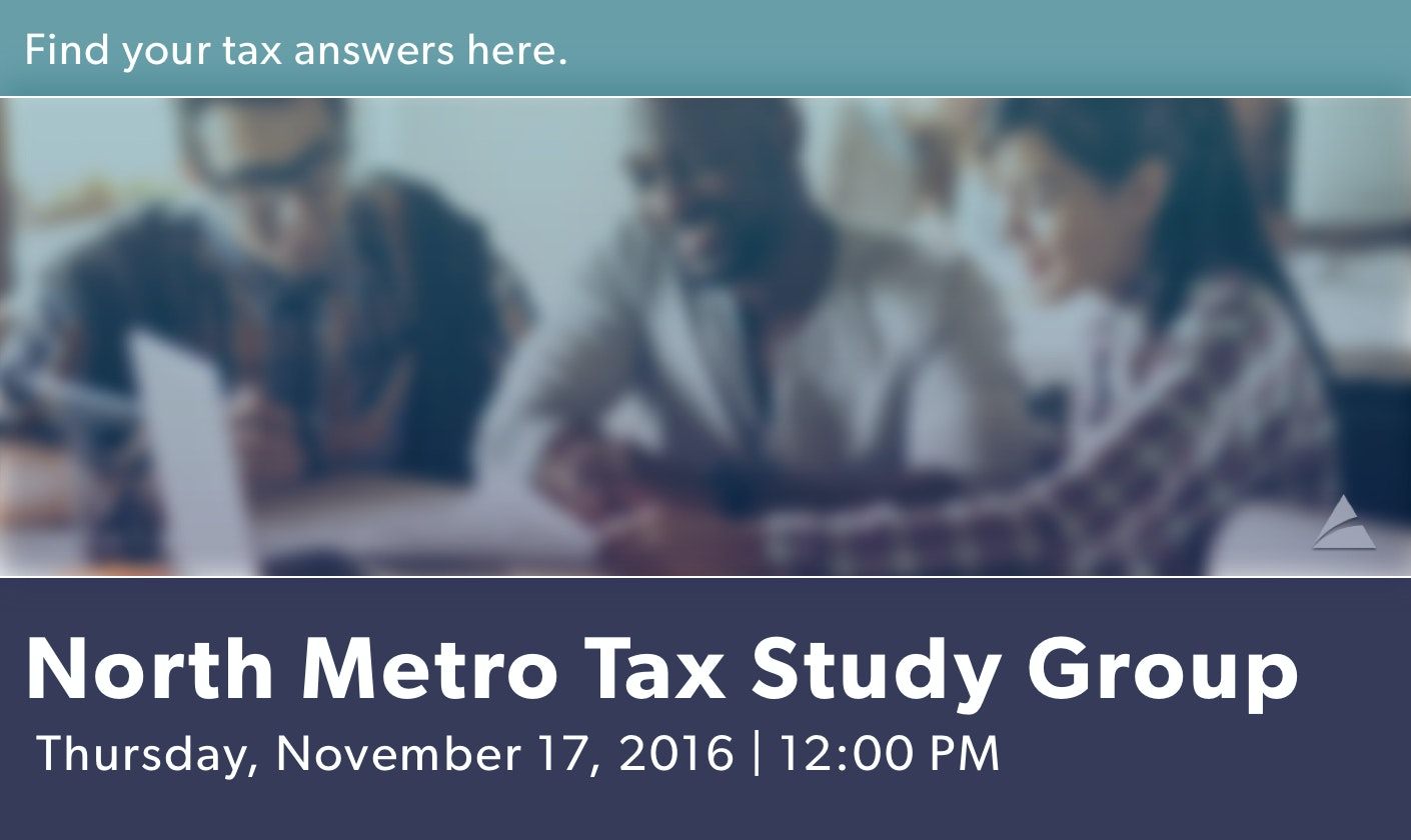 North Metro Tax Study - November 2016