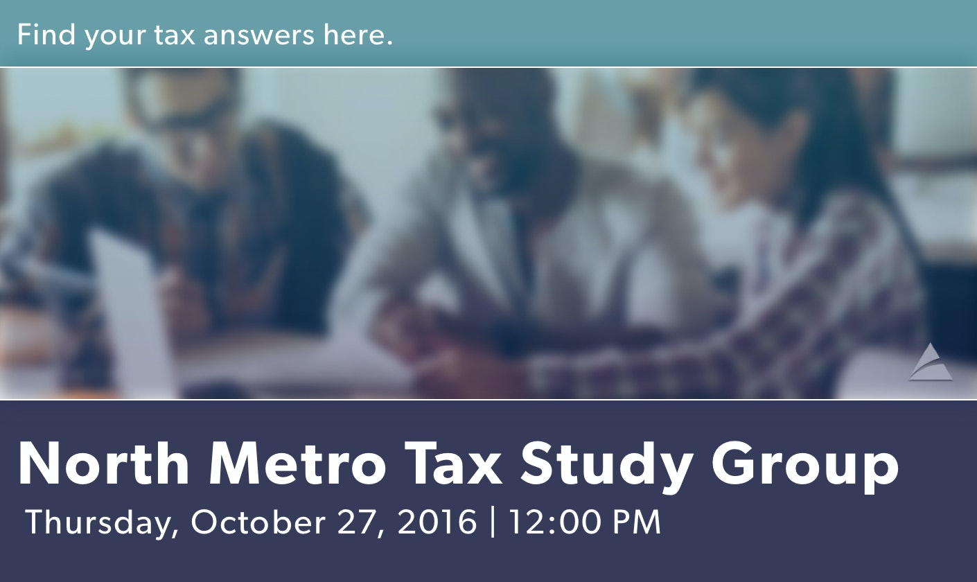 North Metro Tax Study Group