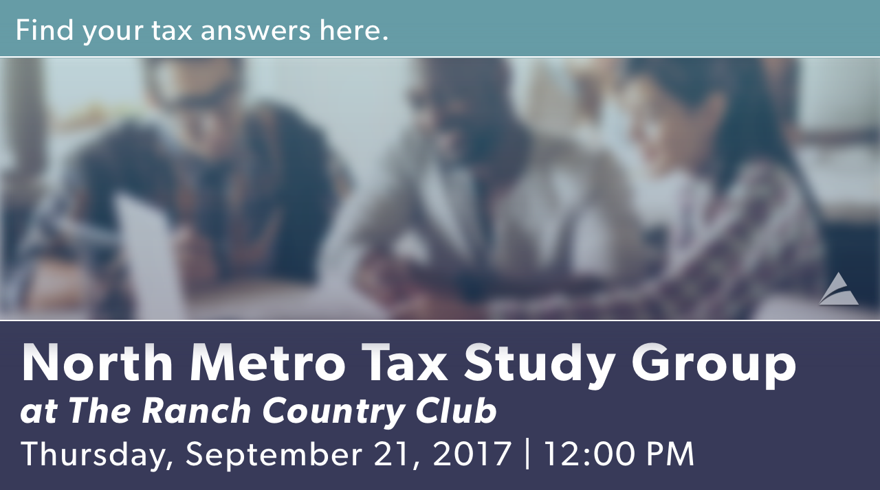 North Metro Tax Study Group - September 2017