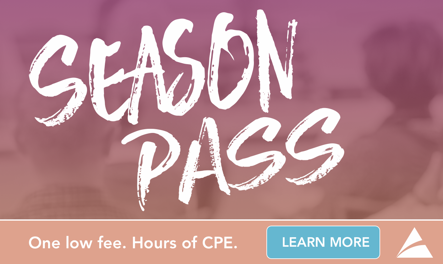 COCPA Season Pass: One fee. Hours of CPE.