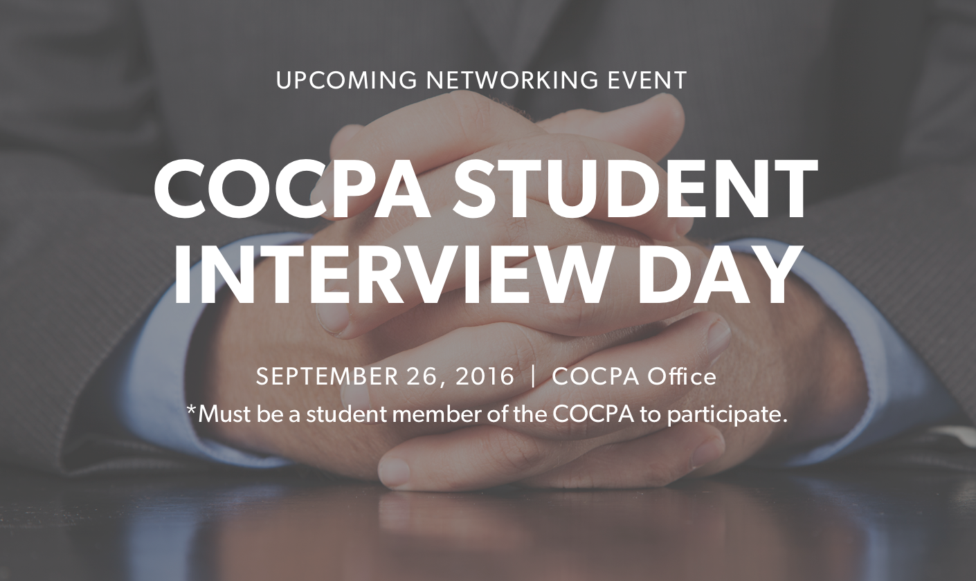 COCPA Student Interview Day