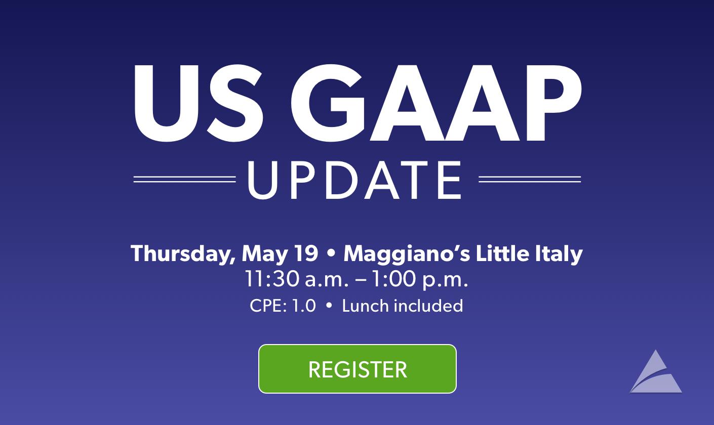Register Now for US GAAP Update