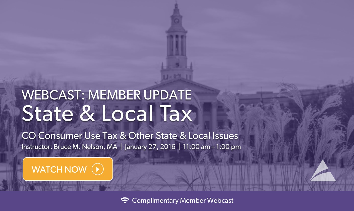 Click Here to Watch the Complimentary State and Local Tax Webinar