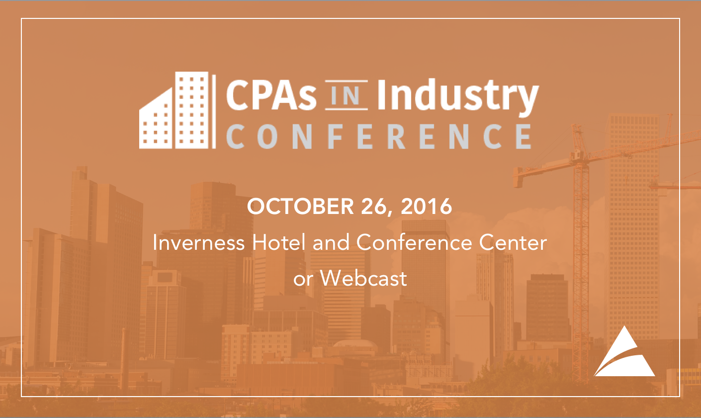 2016 CPAs in Industry Conference