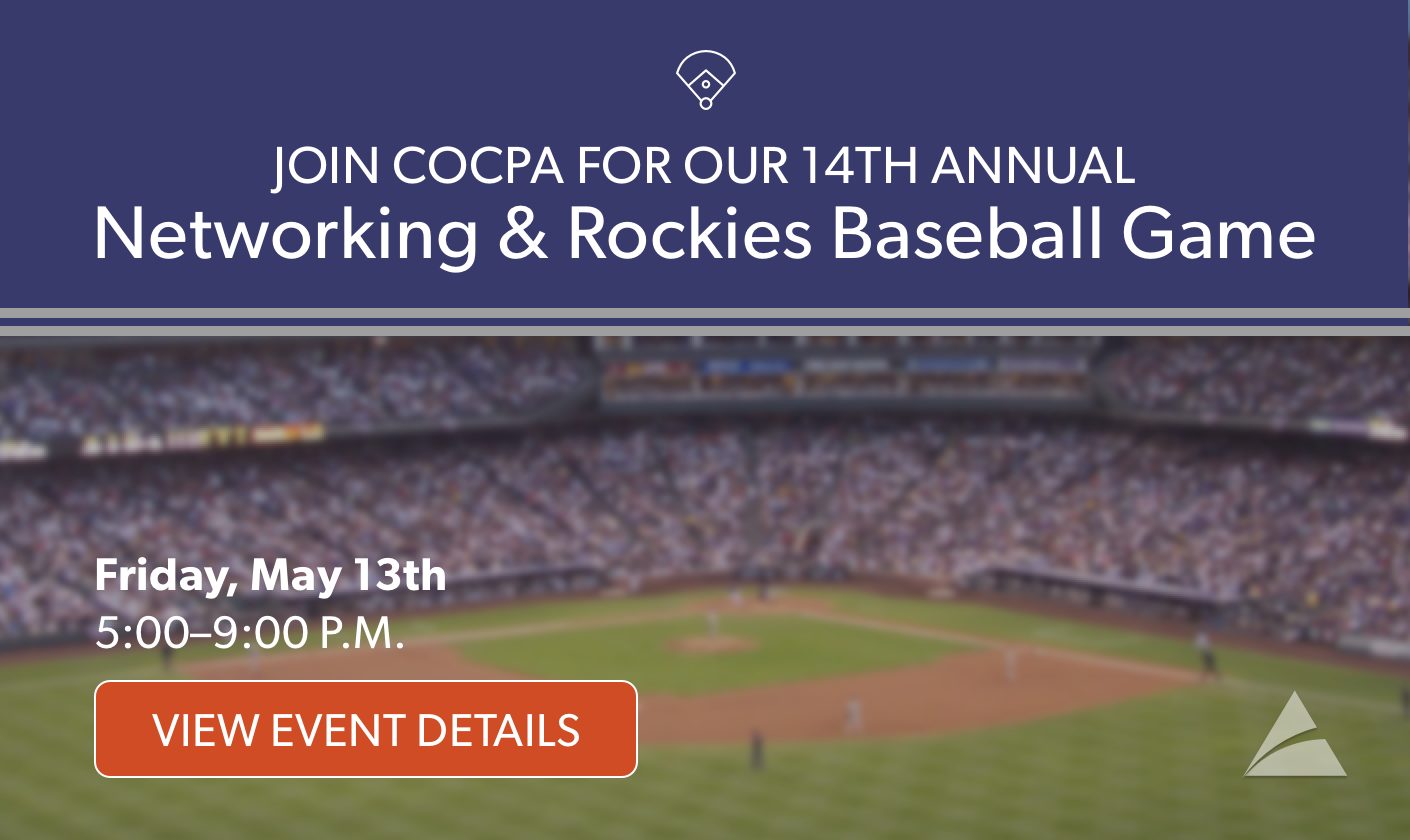 Play Ball! Join Your COCPA to Cheer the Rockies!